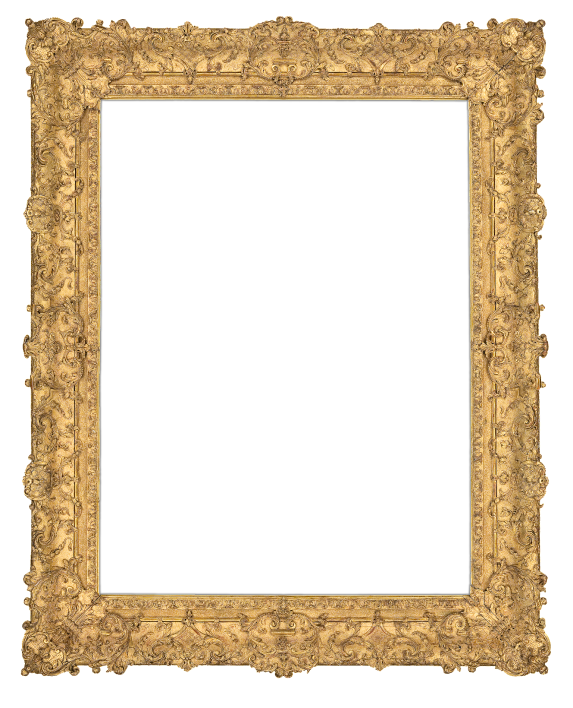 one of Lowy's many spectacular gold frames
