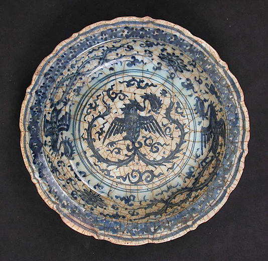 17th-century Syrian Dish with Phoenixes, image courtesy of The Metropolitan Museum of Art
