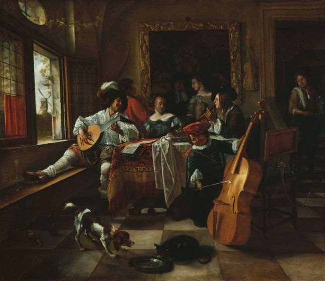 Jan Steen, The Family Concert (image courtesy of the Art Institute of Chicago)
