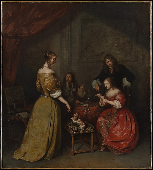 Caspar Netscher, The Card Party (image courtesy of metmuseum.org)