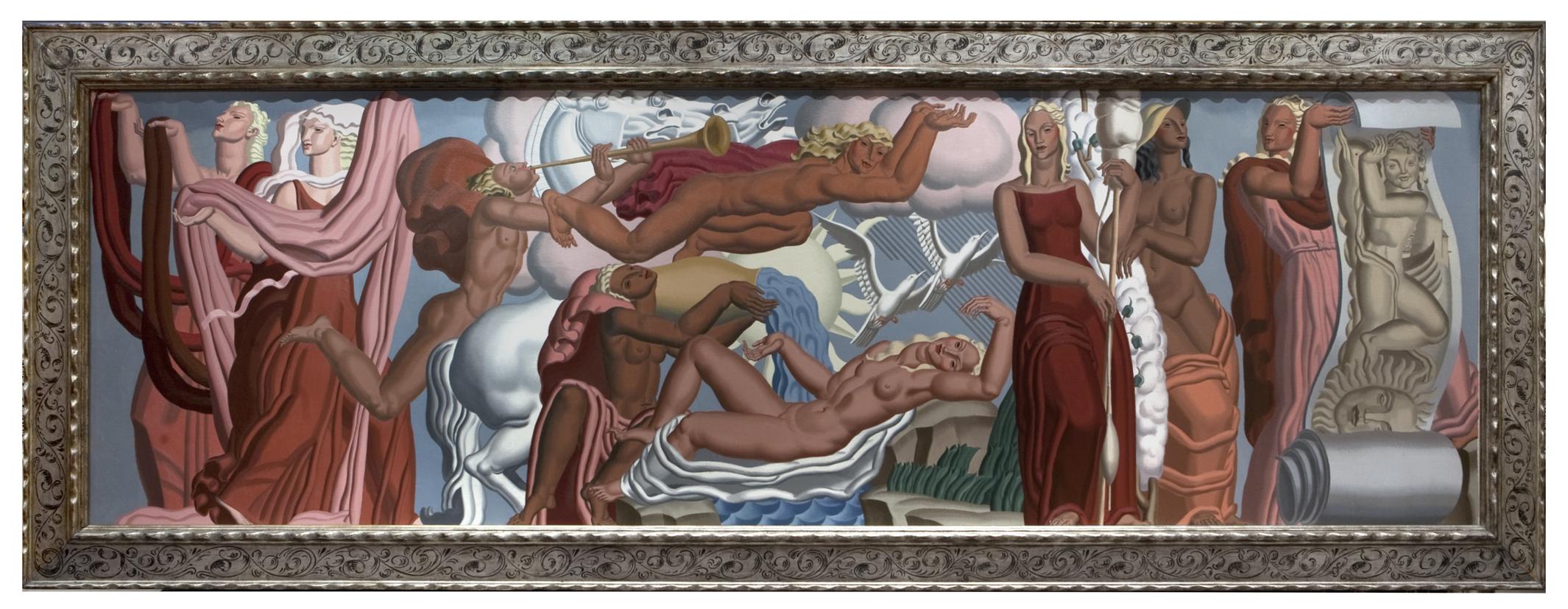 jean dupas allegorie de tissu in a custom lowy frame 40 x 129