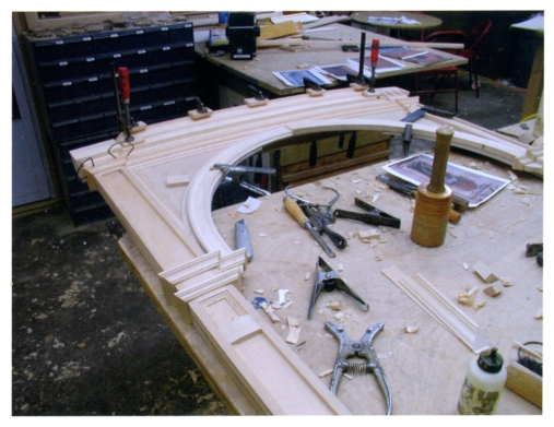 A look at how the frame was constructed