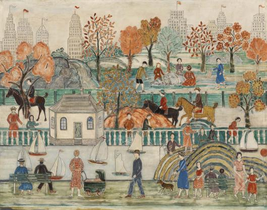 Charles Prendergast, Central Park, 1939 (image courtesy of www.barnesfoundation.org)
