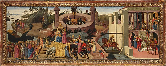Biago d'Antonio's Scenes from the Story of the Argonauts showcases the lavish decorative strategies employed by Renaissance artists and craftsmen (image courtesy of metmuseum.org)