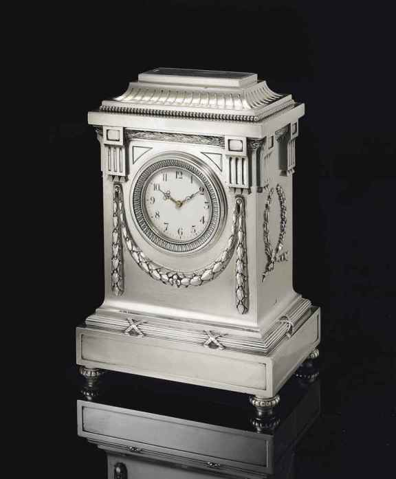 Fabergé Mantel Clock, Moscow, 1899-1908 (image courtesy of Christie's)