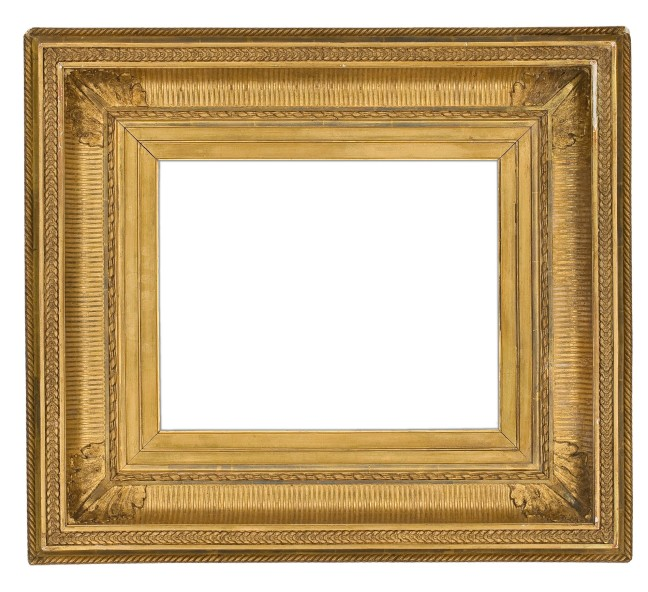 19th century gilded composition fluted cove frame (2250)