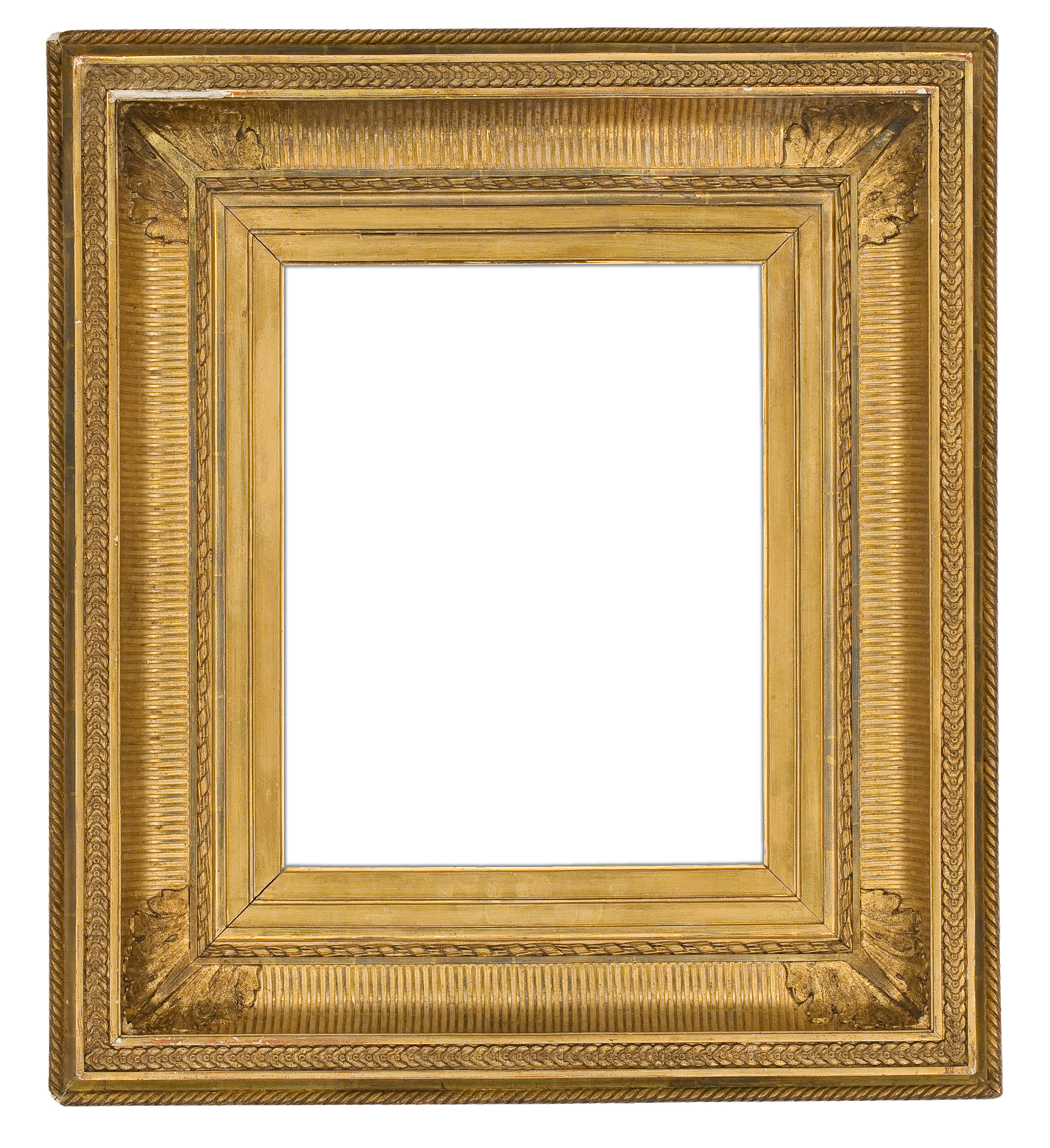 19th century gilded composition fluted cove frame 2250
