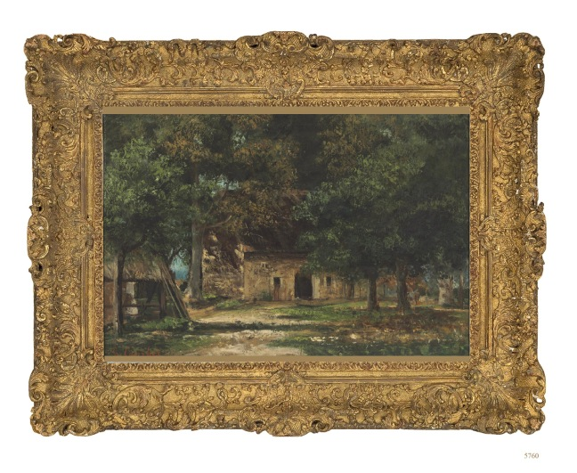 Gustave Courbet, Le Jardin de la Mère Toutain à Honfleur, oil on canvas, c.1859-1861 (Courtesy of Christie's New York)