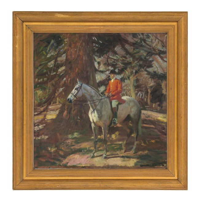 Sir Alfred Munnings, The Whip, c.1922, oil on panel (Courtesy of Christie's New York)