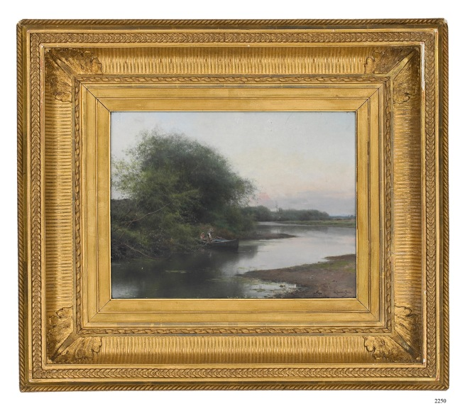 Emilio Sanchez-Perrier, A Summer Day on the River, oil on panel (Courtesy of Christie's New York)