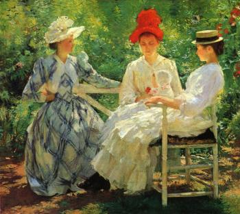 In a Garden, Edmund Tarbell (image courtesy of Milwaukee Art Museum)