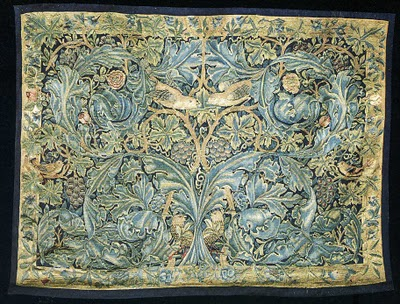 It took William Morris over 500 hours to complete his Acanthus and Vine tapestry design in 1879. (image courtesy of John Hopper's Design Decoration Craft site)