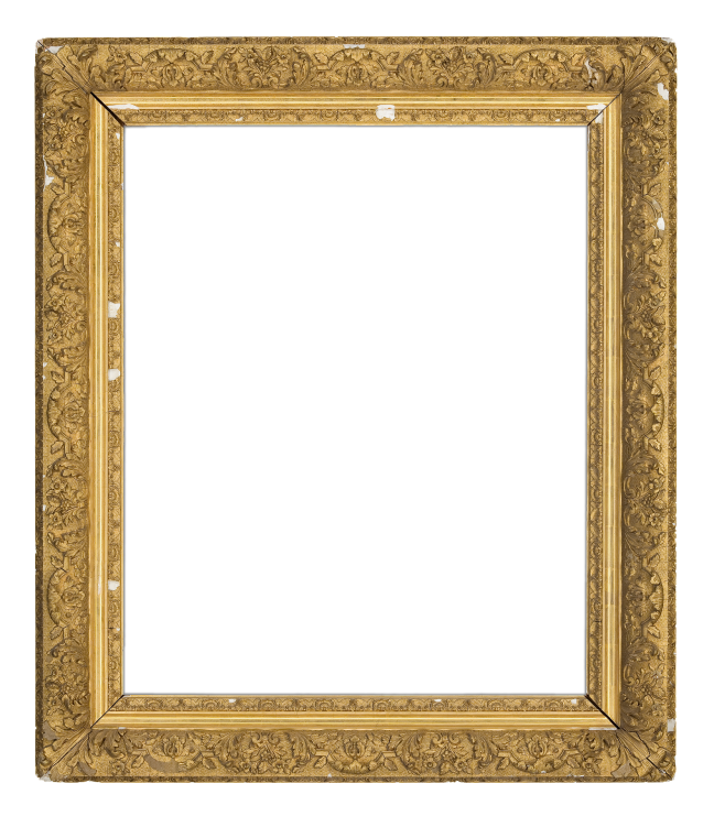 An 1880s French gilt composition Barbizon-style frame with ogee profile and continuous finely detailed scrolling acanthus leaf ornamentation (0050)