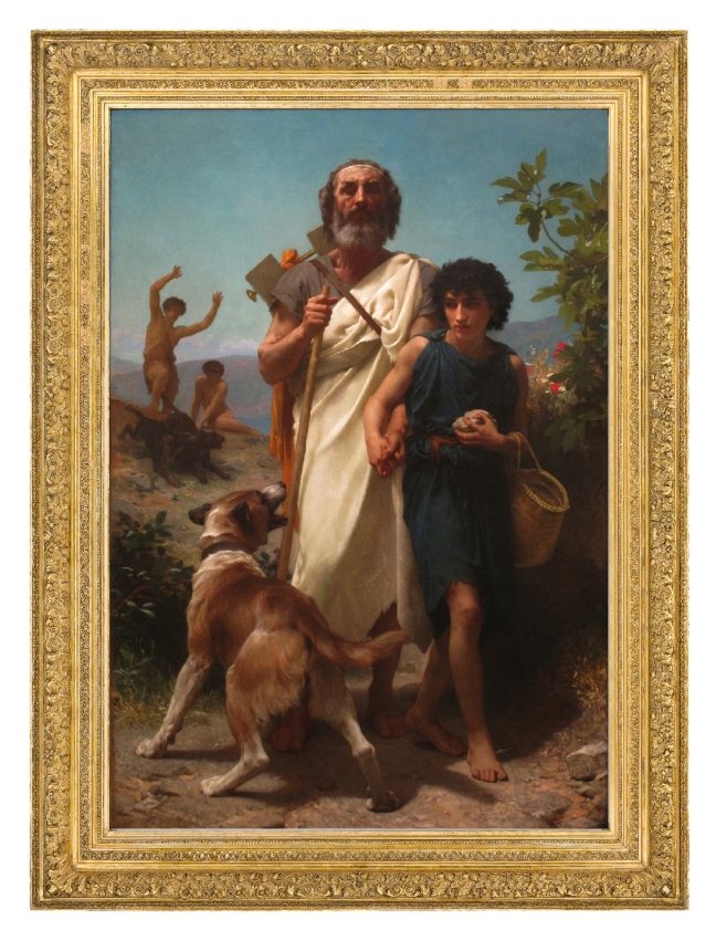 William-Adolphe Bouguereau, Homer and his Guide, 1874, oil on canvas (Courtesy Milwaukee Art Museum)