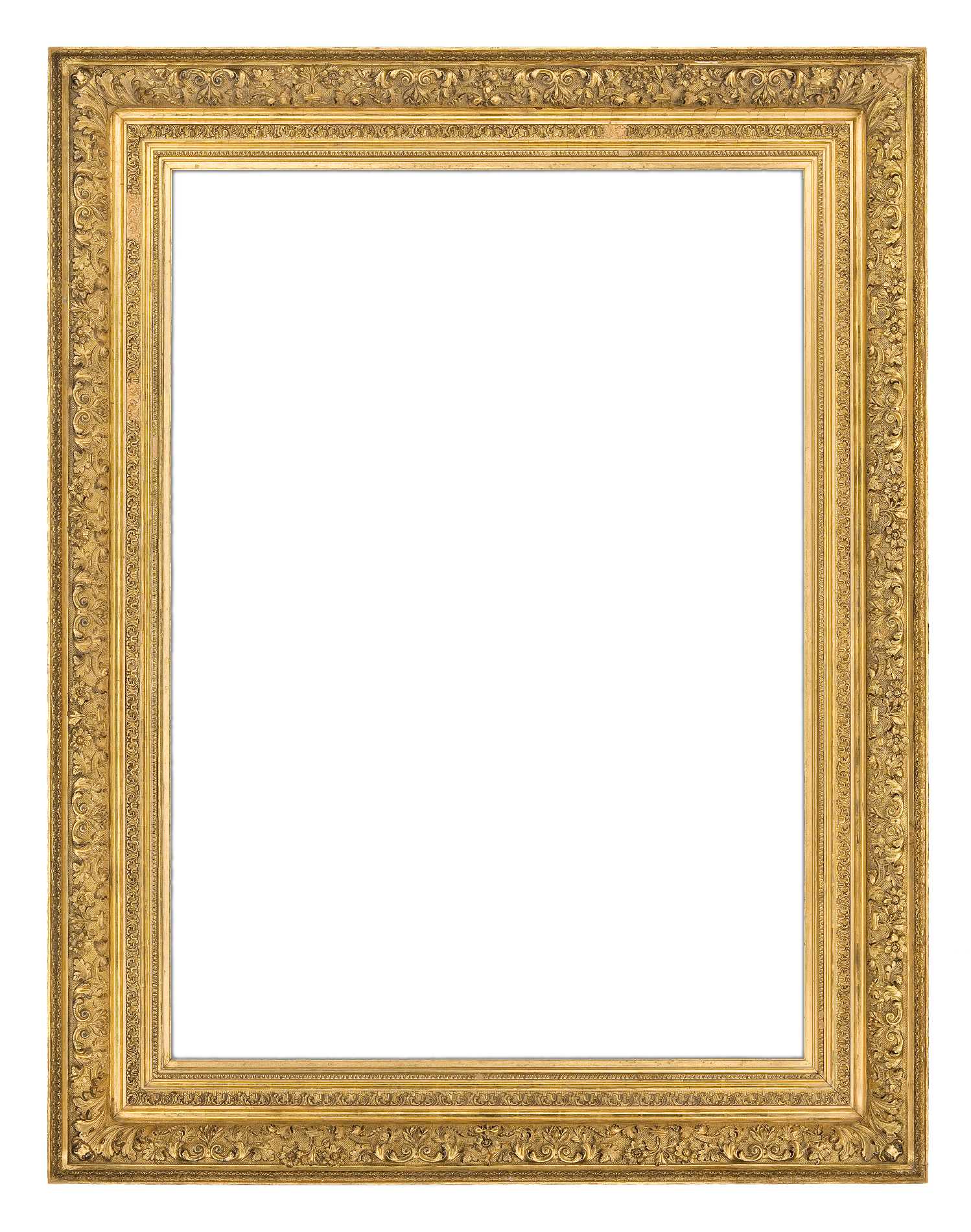 an 1880s french gilt composition barbizon style frame with ogee profile and continuous finely detailed - Museum Frames