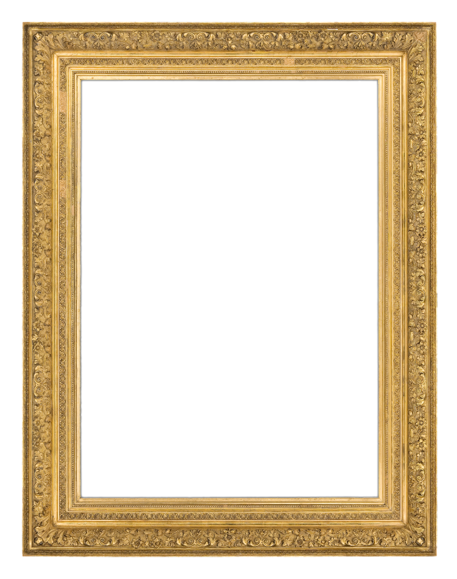 An 1880s French gilt composition Barbizon-style frame with ogee profile and continuous finely detailed scrolling acanthus leaf ornamentation