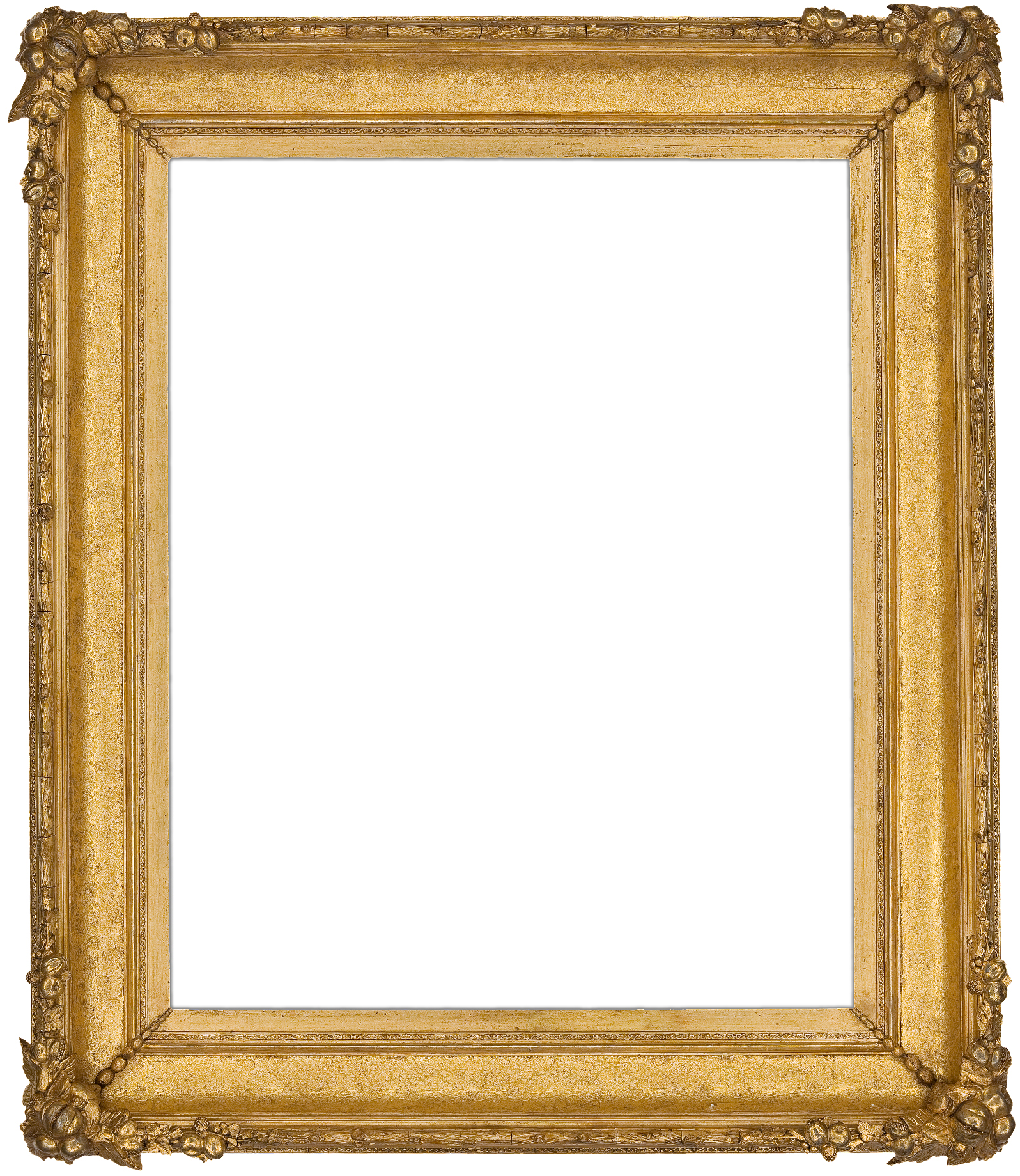 Antique Picture Frames Part - 37: Fruit Clusters Accent The Corners Of This Unique Mid- To Late 19th Century  American Gilt Composition Cove Frame. U201c